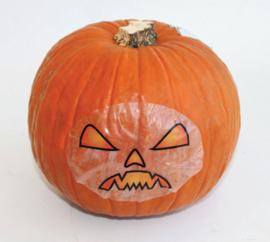 Fruitmand met Halloweenpompoen