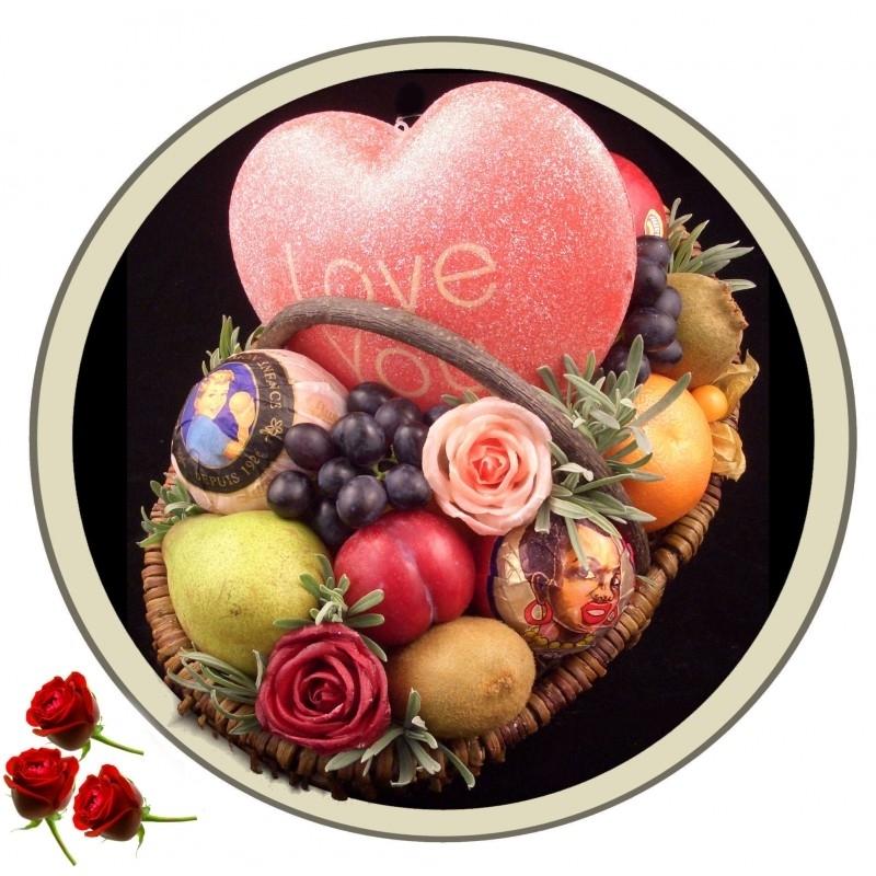 Fruitmand: `Groot Hart`