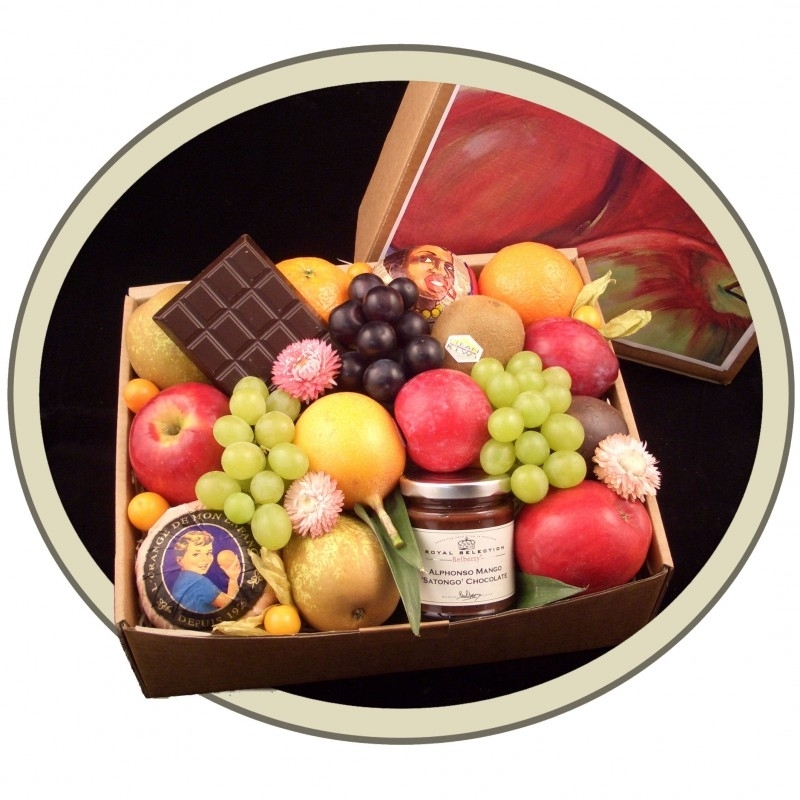 Fruit in a Box: Fruit, Chocolade & Bonbons