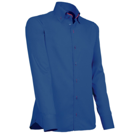 Giovanni Capraro 916 - 85 Overhemd Donkerblauw (Rood Accent)