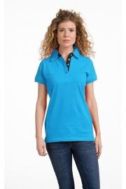 Poloshirt Cotton - Elasthan Turquoise - Dark Navy