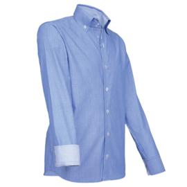 Giovanni Capraro 911 - 35 Overhemd Blauw Gestreept