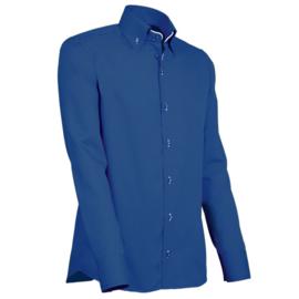 Giovanni Capraro 916 - 10 Overhemd Donkerblauw (Wit Accent)