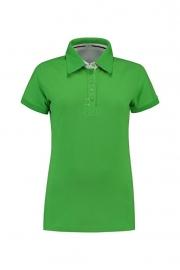 Poloshirt Cotton - Elasthan Lime - White