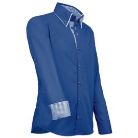 Giovanni Capraro 909 -36 Overhemd Blauw (Blauw Accent)