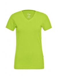T-shirt Dames V-hals Lime
