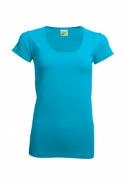 T-shirt Dames Ronde Hals Turquoise