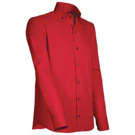 Giovanni Capraro 918 - 39 Overhemd Rood (Navy Accent)