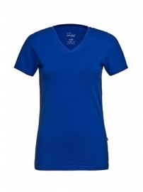 T-shirt Dames V-hals Royal Blue