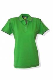 Poloshirt Flatlock Lime Pearl Grey