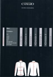 Giovanni Capraro 902 - 12 Overhemd Grijs Gestreept (Zwart Accent)