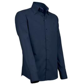 Giovanni Capraro 917 - 36 Overhemd Navy (Blauw Accent)