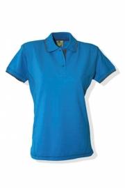 Poloshirt Flatlock Turquoise - Parel Grijs