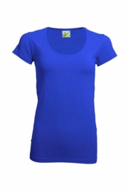 T-shirt Dames Ronde Hals Royal Blue