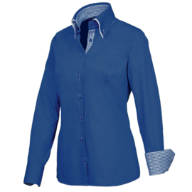 Giovanni Capraro 29309 - 36 Blouse Donker Blauw (Blauw Accent)