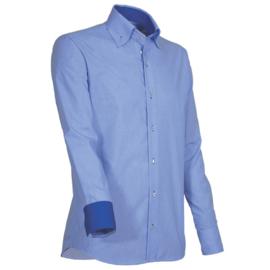 Giovanni Capraro 910 -34 Overhemd Blauw (Blauw Accent)