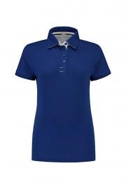 Poloshirt Cotton - Elasthan Royal Blue - White