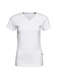 T-shirt Dames V-hals Wit