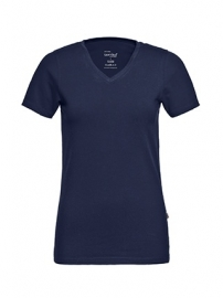 T-shirt Dames V-hals Real Navy