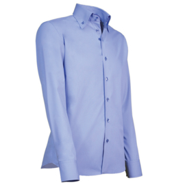 Giovanni Capraro 915 - 36 Overhemd Lichtblauw (Blauw Accent)