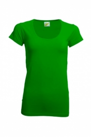 T-shirt Dames Ronde Hals Lime