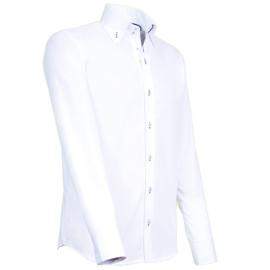 Giovanni Capraro 913 - 39 Overhemd Wit (Navy Accent)