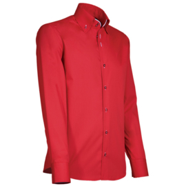 Giovanni Capraro 918 - 10 Overhemd Rood (Wit Accent)