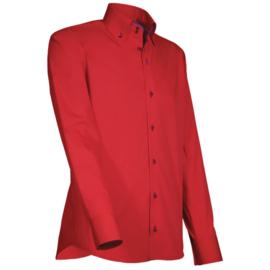Giovanni Capraro 918 - 36 Overhemd Rood (Blauw Accent)