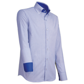 Giovanni Capraro 908 -39 Overhemd Blauw Gestreept (Blauw Accent)