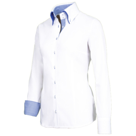 Giovanni Capraro 29309 - 10 Blouse Wit (Blauw Accent)