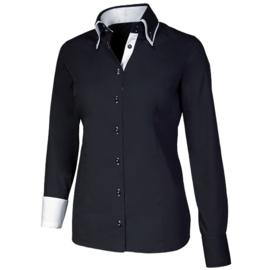 Giovanni Capraro 29304 - 20 Blouse Zwart (Wit Accent)
