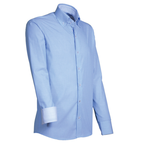 Giovanni Capraro 911 - 32 Overhemd Lichtblauw Gestreept