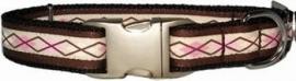 Bella Barkley Ruit bruin / roze halsband en lijn