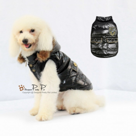 Pretty Pet Metallic vest Zwart