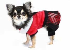 Red plaid Jumper with Skirt