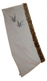 Puppy Sling Beige met Blue Birds strass