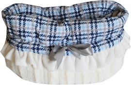 Pet Flys Snuggle Bug Blue Plaid