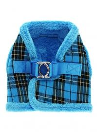 luxe blauwe tartan bont tuig met looplijn