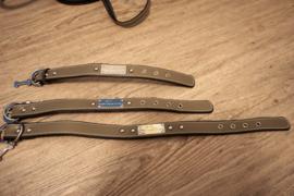 Halsband + riem woodenset