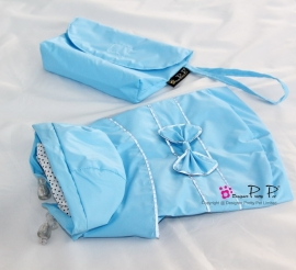 Pretty Pet Reflective Bow regenjas Blauw