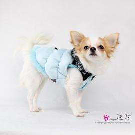 Pretty Pet Fancy Lace jas Blauw