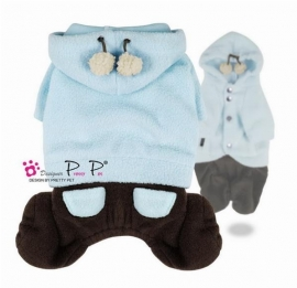 Pretty Pet hooded jumper babyblauw