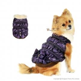 Pretty Pet Diamon Bow jas Paars