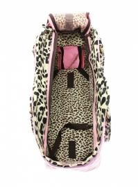 Patant Pink leopard Honden draagtas