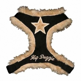 Black Fur Star Harnas Vest Hip Doggie