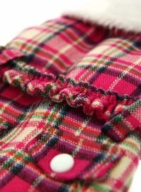 Fuchsia Pink fur tartan