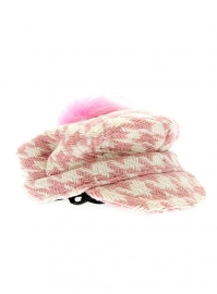 Houndstooth Pet roze
