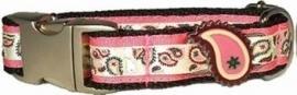 Bella Barkley Fantasy roze halsband en lijn