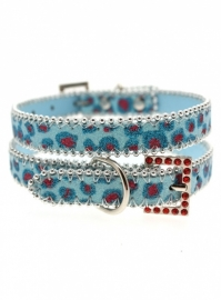 Cool Blue bling bling Halsband
