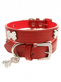 Red Diamant Bone Halsband met Lijn